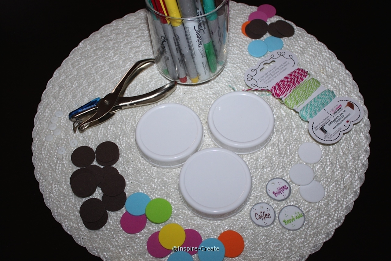 supplies for making flower lids