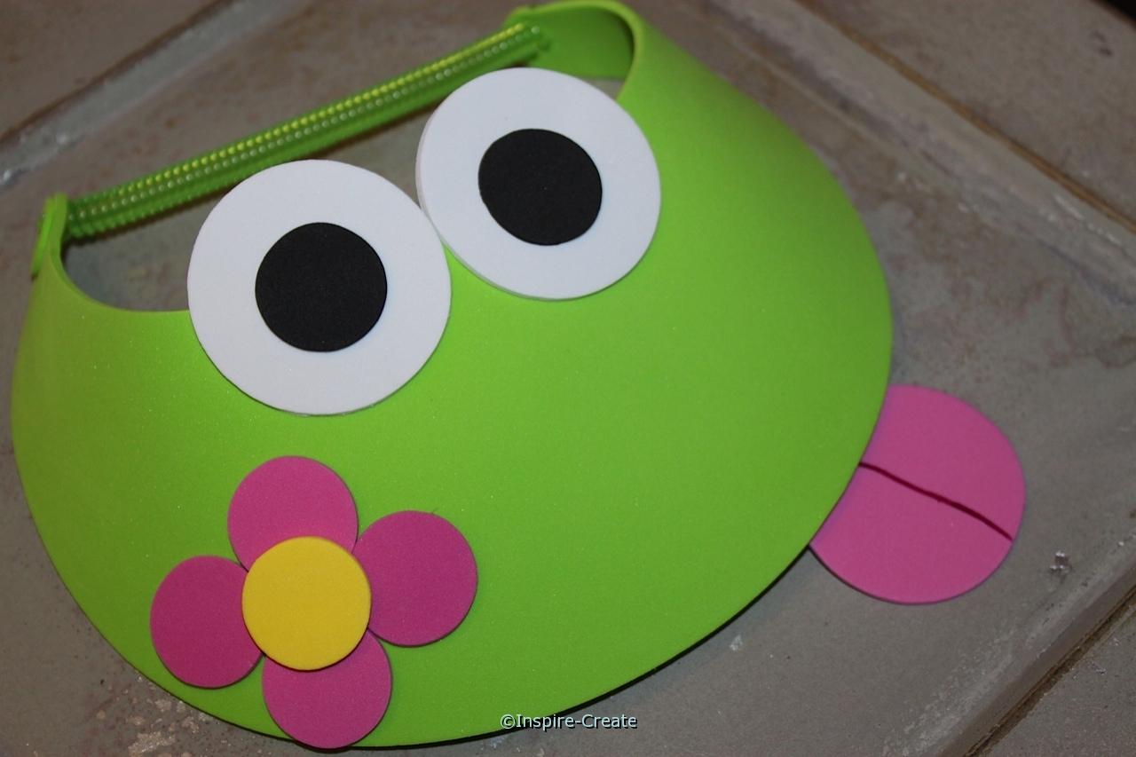 frog and flower visors for spring
