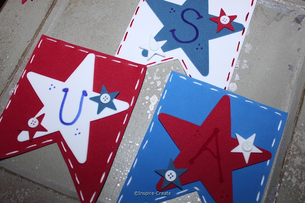 USA Banner made with Craft Foam