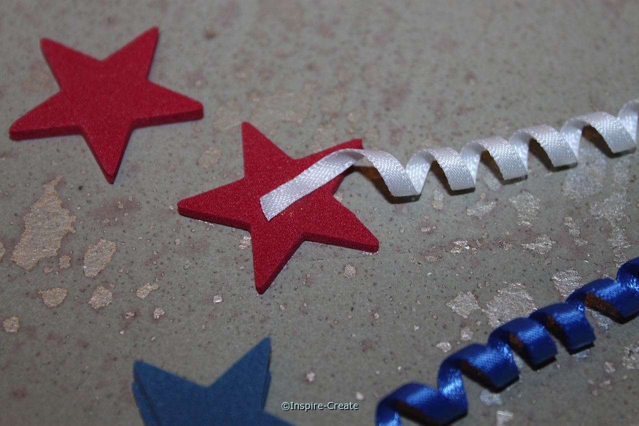 Mini Stars attached to Ribbon with Glue Dots