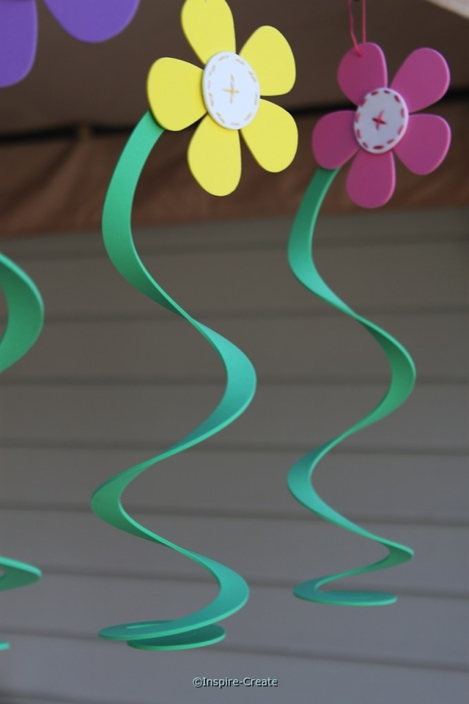 how to make hanging flowers from craft foam
