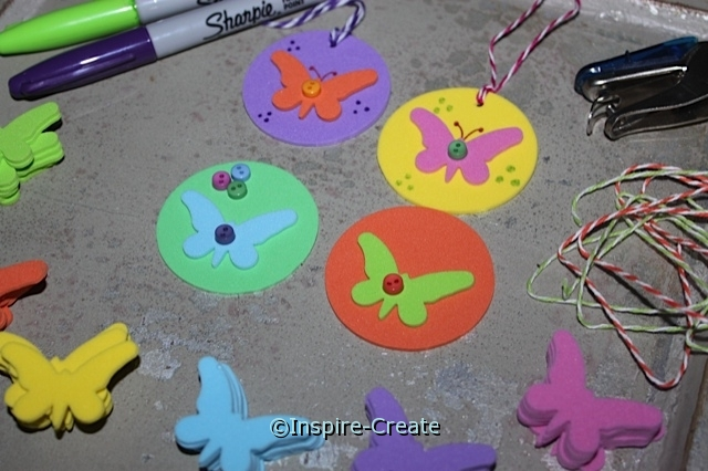 DIY...Butterfly Necklaces! Easy to make and fun to wear.