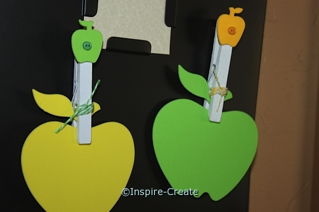 Apple Clothespin Magnets. they are easy to make!