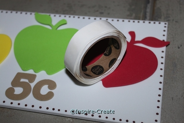 Attach Apple Shapes to Craft Foam with Glue Dots