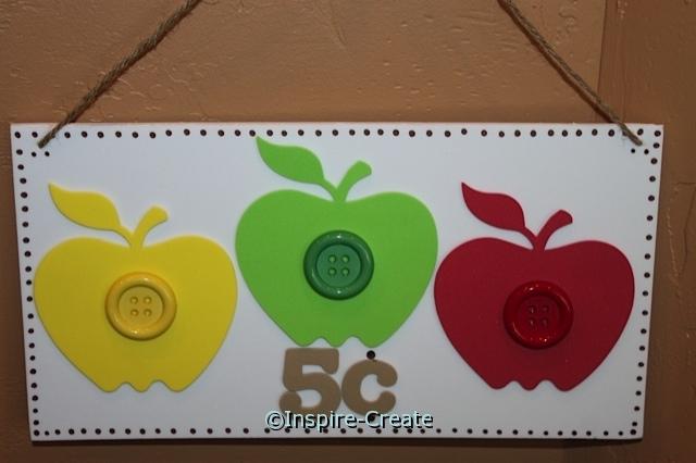 DIY:  Apple Sign made w/ Craft Foam