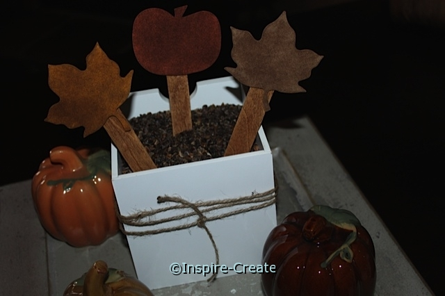 Leaf and Pumpkin Vase made with Coffee and Craft Foam