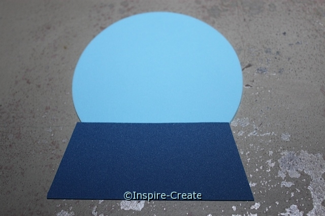 """Attach 4"""" Foam Circle to base for snow globe craft."""