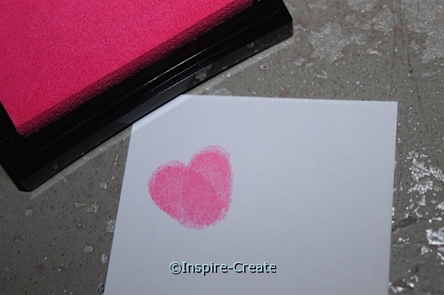 Make Fingerprint Hearts easily with a stamp pad