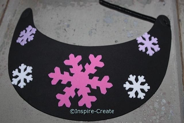 Create an Easy Snowflake Foam Visor.
