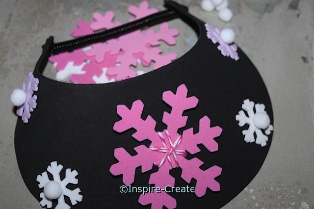 Easy Snowflake Visors for Kids Craft!