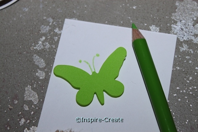 Butterfly Bookmarks...draw matching antennae with colored pencils.