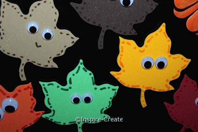 Craft Foam Fall Leaf Magnets!