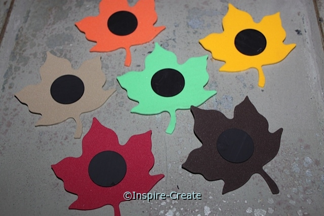 Easy Leaf Magnets made with Craft Foam & 1 inch Adhesive Magnets