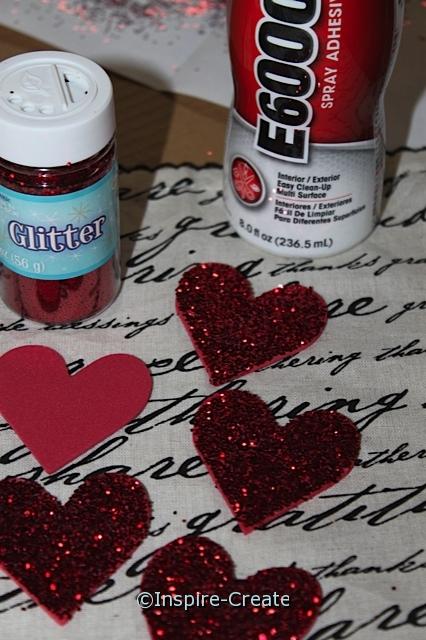 Glitter Hearts with Craft Foam