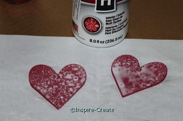 E6000 Spray Adhesive on Craft Foam Hearts