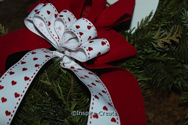 Valentine's Day Wreath... Attach Heart Bow