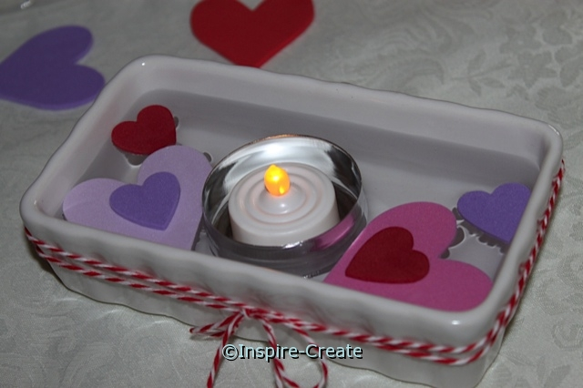 Floating candles made easy w/ small tins