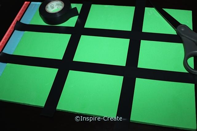 Craft Foam Tic Tac Toe Game...Add Black Electrical Tape