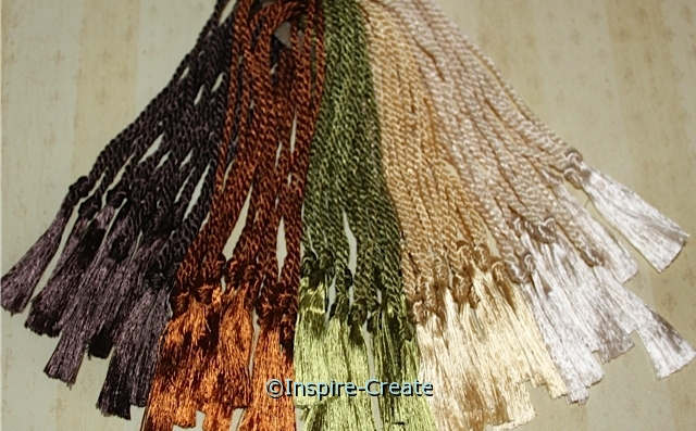 Assorted Earth Tones Bookmark Tassels (50)*