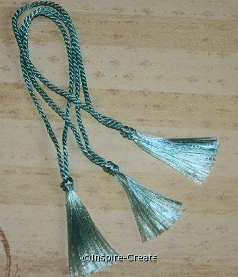 Bookmark Tassels Aqua Blue (50)*