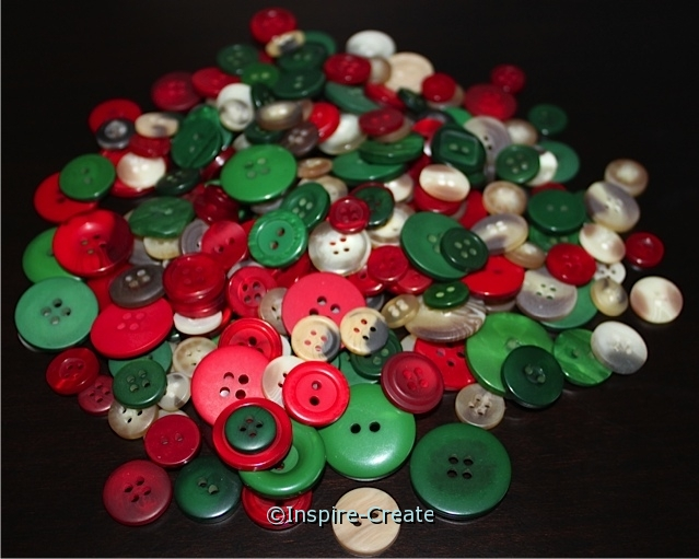 Folk Christmas Assorted Craft Buttons*