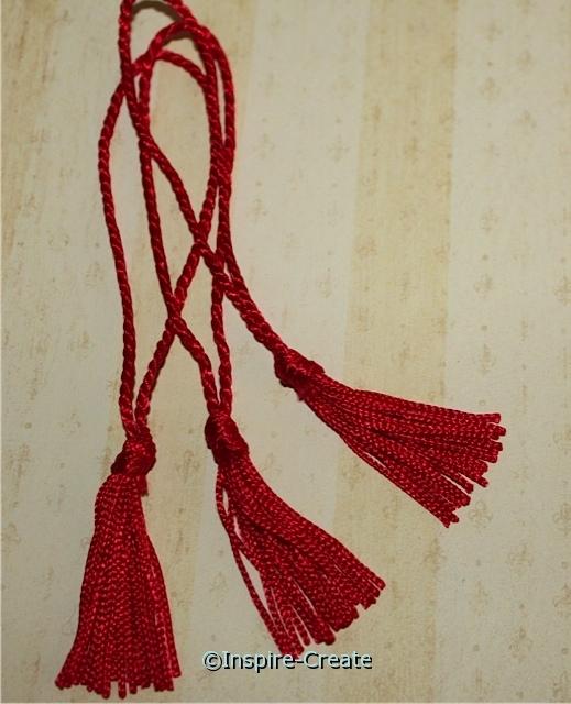 Red Chainette Bookmark Tassels (50)*
