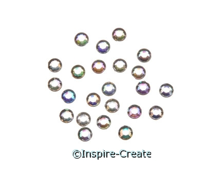 5mm Iridescent Stick on Rhinestones (200)*