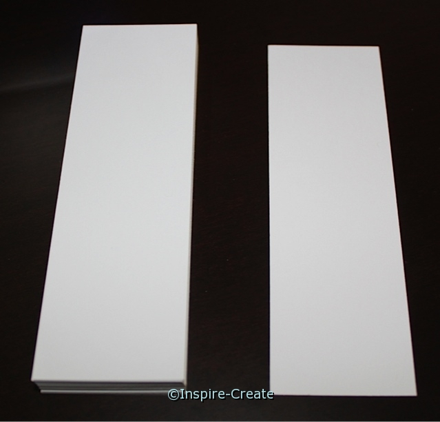 Square Top White Bookmark Inserts (50)*