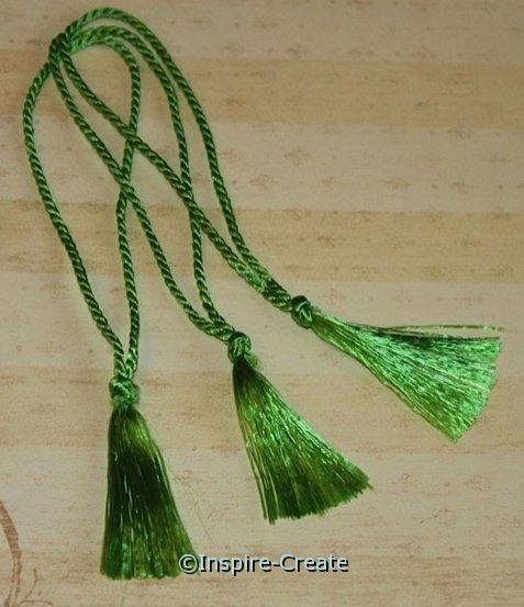 Bookmark Tassels Green Apple (50)*