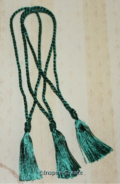 Bookmark Tassels Hunter Green (50)*