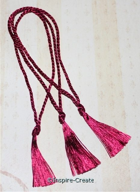 Bookmark Tassels Magenta (50)*
