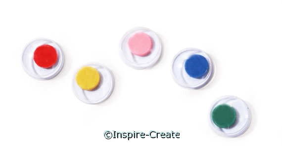 7mm White w/Color Wiggle Eyes (224)*