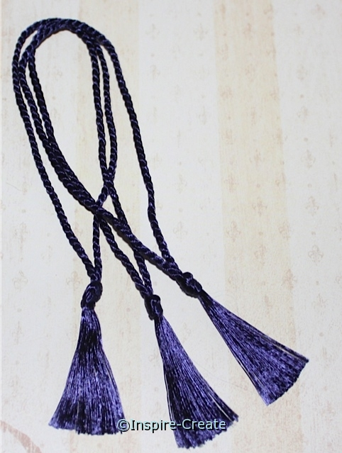 Bookmark Tassels Navy (50)*