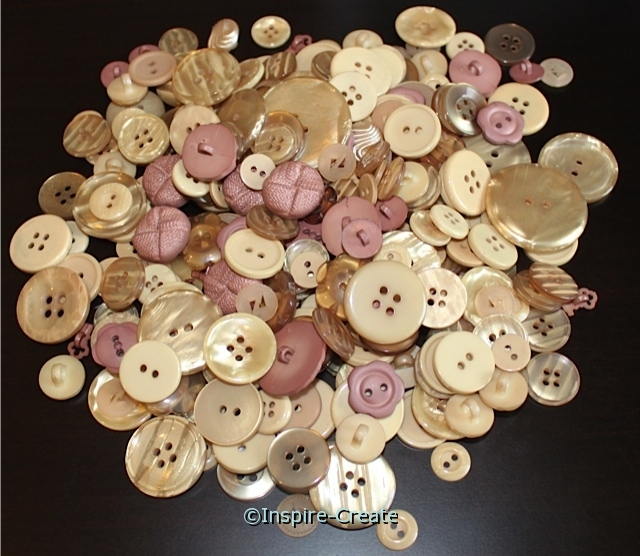 Beige Craft Buttons (1/2 lb)*