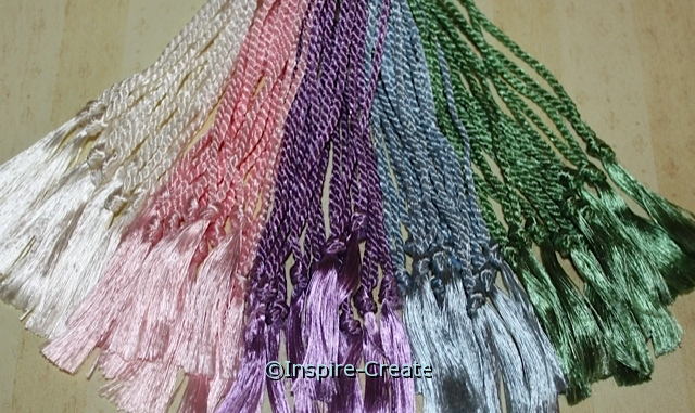 Assorted Pastel Bookmark Tassels (50)*