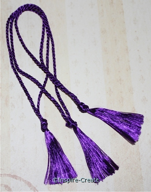 Bookmark Tassels Purple (50)*