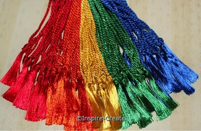 Assorted Rainbow Bookmark Tassels (50)*