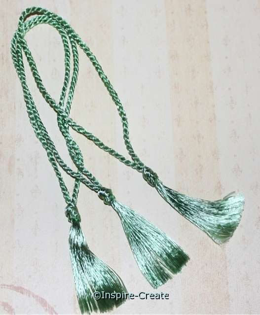 Bookmark Tassels Sea Foam Green (50)*