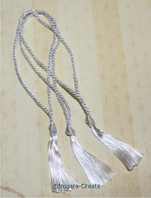 Bookmark Tassels Silver Gray (50)*