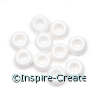 White Opaque Pony Beads (1000)*