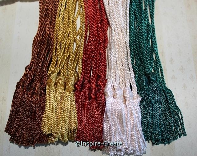 Autumn Assorted Chainette Bookmark Tassels (50)*