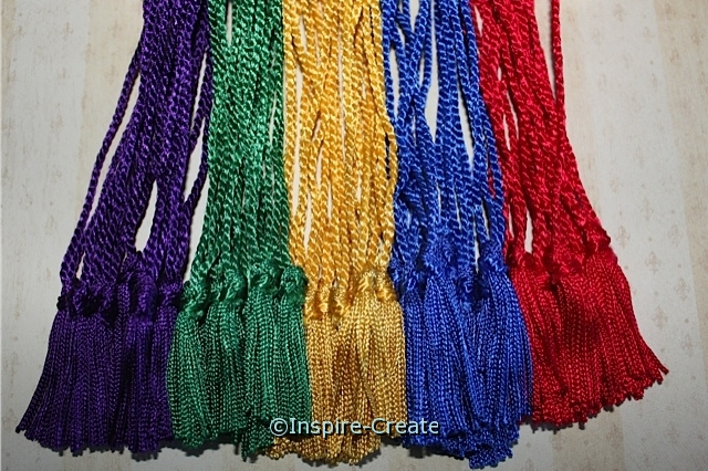 Classic Assorted Chainette Bookmark Tassels (50)*