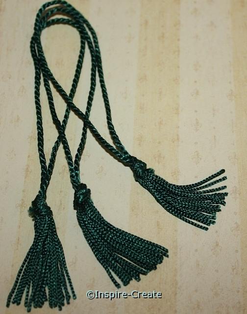Hunter Green Chainette Bookmark Tassels (50)*