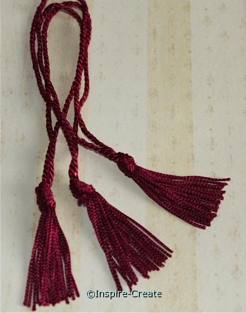 Magenta Chainette Bookmark Tassels (50)*