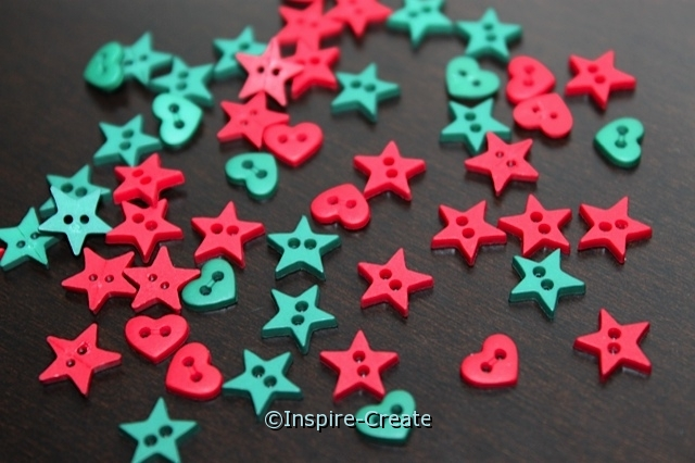 Heart & Star Mini Buttons (40 pcs)*