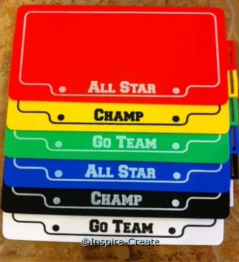 Foamies Sport License Plate (6)*
