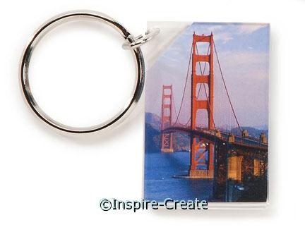 Acrylic Keychain 1 1/8x1 5/8