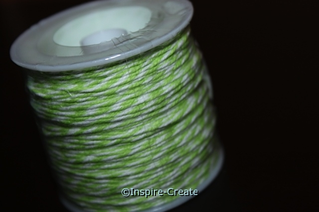 Lime/White Twist Baker\'s Twine 50 yds*