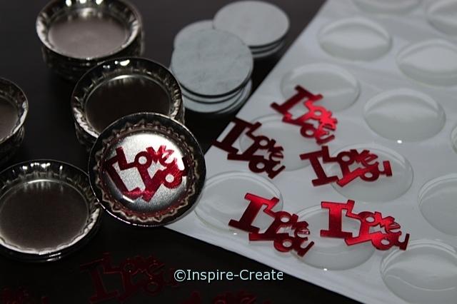 """I love you"" Bottle Cap Magnet Kit (Makes 20)*"