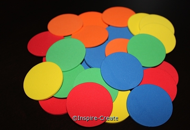 "Foam 1 1/2"" Multi Circles SHAPES (Bulk 240) ~All Sales Final"